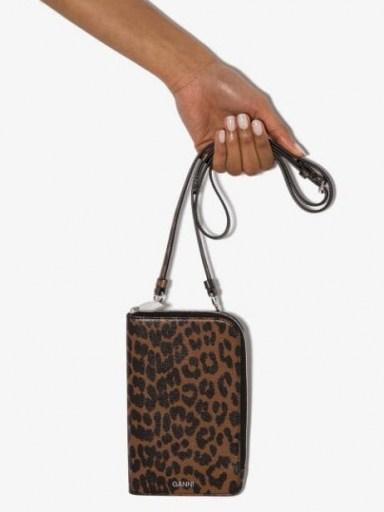 GANNI leopard print crossbody bag / small cross body bags