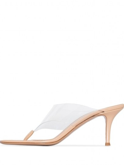 Gianvito Rossi 70mm PVC mules / transparent toe post mule