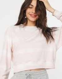 Gilly Hicks lounge wear sweater in pink wash