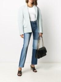 Givenchy high-rise straight-leg patchwork jeans ~ designer denim