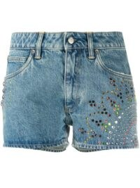 Golden Goose embellished denim shorts ~ multicoloured embellishments