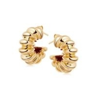 MISSOMA gold large ridge claw hoops / textured chunky hoop earrings