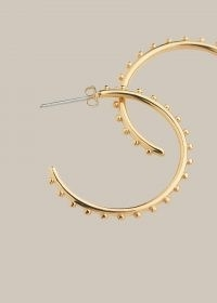 WHISTLES STUDDED CLASSIC HOOP / textured medium hoops