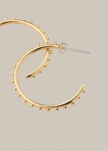 WHISTLES STUDDED CLASSIC HOOP / textured medium hoops - flipped