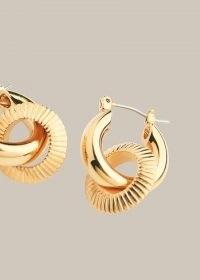 WHISTLES TEXTURED DOUBLE TUBE HOOP / two hoop earrings