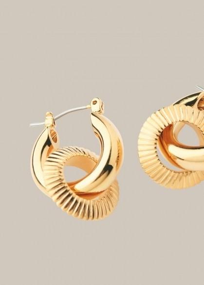 WHISTLES TEXTURED DOUBLE TUBE HOOP / two hoop earrings - flipped