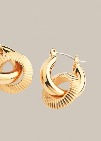 WHISTLES TEXTURED DOUBLE TUBE HOOP / two hoop earrings