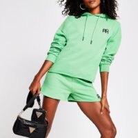 RIVER ISLAND Green long sleeve branded RR hoodie – hoodies