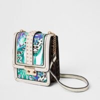 River Island Green Tropical Print Vertical Cross Body Bag | printed crossbody bags