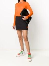 Heron Preston jersey mini skirt | black logo print skirts