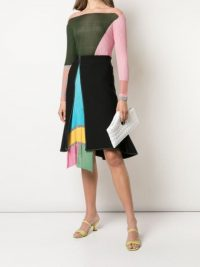 i-am-chen open front skirt ~ colourblock paneled skirts