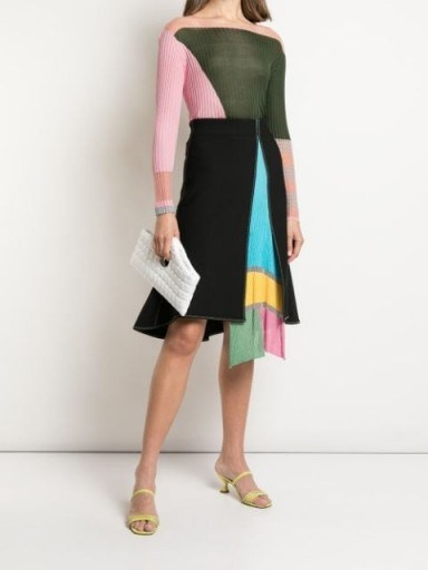 i-am-chen open front skirt ~ colourblock paneled skirts - flipped