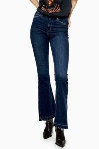 Topshop Indigo Let Hem Jamie Flare Skinny Jeans | retro denim | flares