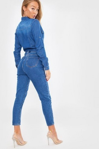 In The Style INDIGO SEAM DETAIL MOM JEANS - flipped