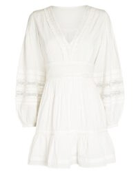 INTERMIX Bettina Cotton Peasant Mini Dress | boho summer dresses
