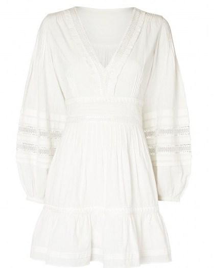INTERMIX Bettina Cotton Peasant Mini Dress | boho summer dresses - flipped