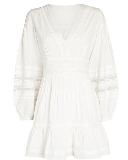 INTERMIX Bettina Cotton Peasant Mini Dress | boho summer dresses