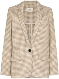 Isabel Marant Étoile Charly checked blazer / dogtooth jackets