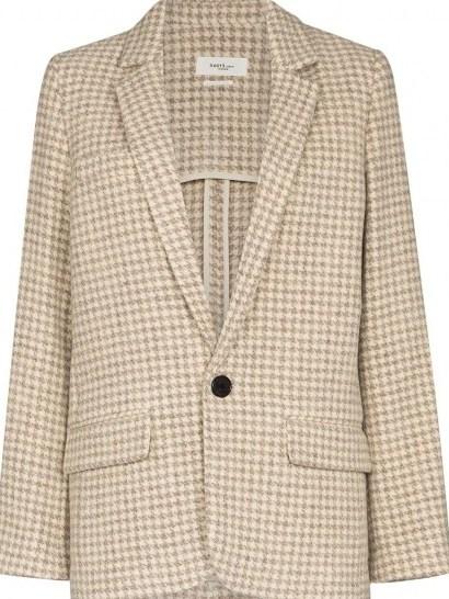 Isabel Marant Étoile Charly checked blazer / dogtooth jackets - flipped