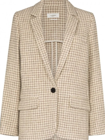 Isabel Marant Étoile Charly checked blazer / dogtooth jackets