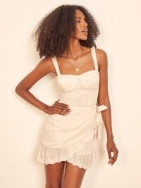 REFORMATION Ives Dress ~ wrap skirt dresses