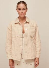 WHISTLES CORDUROY OVERSHIRT Ivory / essential casual style / curved hem over shirts