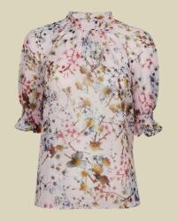 TED BAKER CLOVVE Jasmine high neck blouson top ~ puff sleeve tops