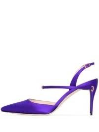 Jennifer Chamandi Vittorio 85 slingback pumps ~ purple point toe slingbacks