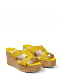 Jimmy Choo Atia 75 yellow sandals