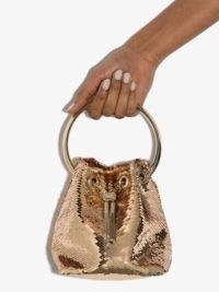 Jimmy Choo Bon Bon sequin mini bag | small gold sequinned bags