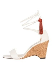 JIMMY CHOO Deva 85 Ankle Wrap Wedges | espadrille wedged heels