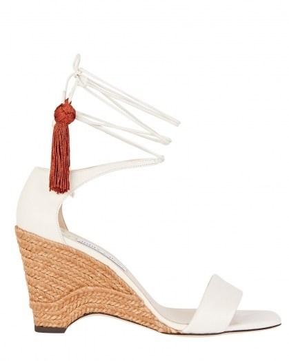 JIMMY CHOO Deva 85 Ankle Wrap Wedges   espadrille wedged heels - flipped