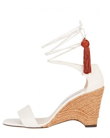 JIMMY CHOO Deva 85 Ankle Wrap Wedges   espadrille wedged heels