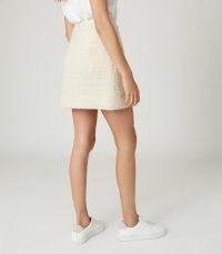 Reiss JUNE BOUCLE MINI SKIRT CREAM   neutral tweed skirts