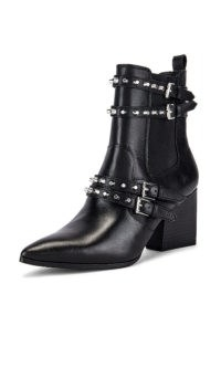 KENDALL + KYLIE Rad Bootie ~ black studded buckle boots