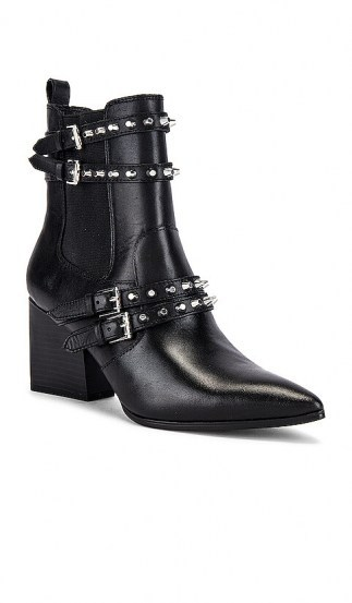 KENDALL + KYLIE Rad Bootie ~ black studded buckle boots - flipped
