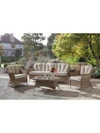 KETTLER RHS Harlow Carr 3 Seater Outdoor Sofa, Natural – John Lewis