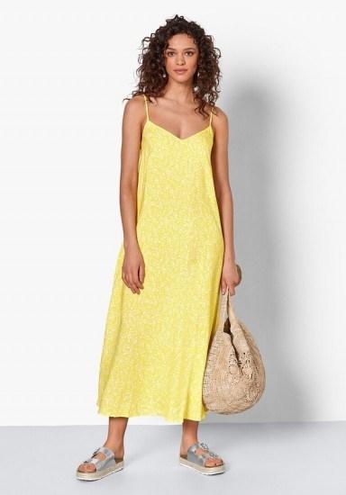 Kitti Tie-Back Midi Dress Yellow Floral / summer brights / slip dresses - flipped