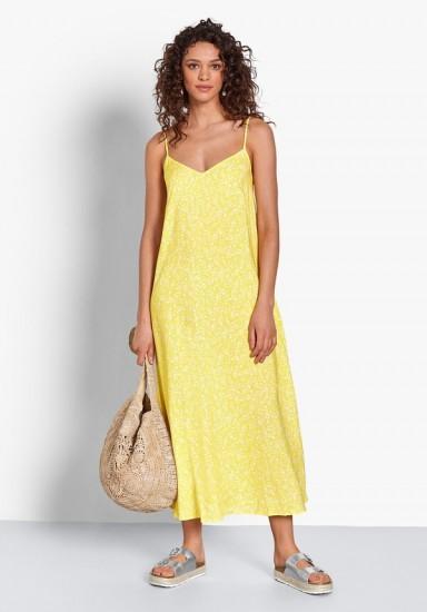 Kitti Tie-Back Midi Dress Yellow Floral / summer brights / slip dresses