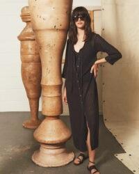 JIGSAW KNITTED MAXI BEACH DRESS
