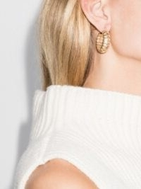 Laura Lombardi 14kt Gold-Plated Camilla Hoop Earrings ~ textured hoops ~ recycled brass jewellery