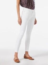 FRAME Le Low Skinny Blanc | white skinnies