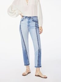 Multi tone jeans | FRAME Le Mix Repair Jean Palomino | straight fit