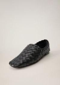 MANGO TREN Leather braided moccasins | woven moccasin shoes