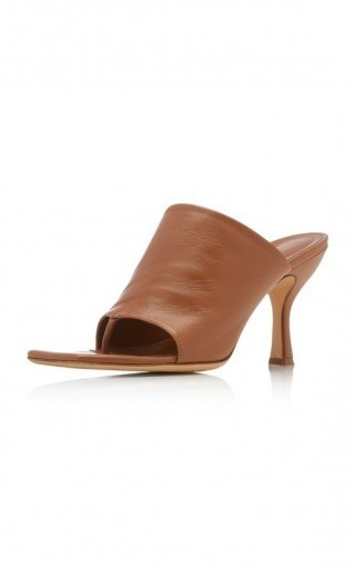 GIA x Pernille Teisbaek Tan-Leather Sandals - flipped
