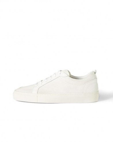JIGSAW LINA LEATHER SUEDE MIX TRAINER / white low top trainers