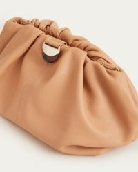 LOEFFLER RANDALL Analeigh Oversized Gathered Clutch Dune | ruched handbag