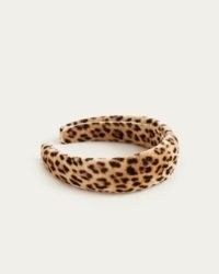 LOEFFLER RANDALL Bette Wide Band Headband Leopard | glamorous velvet headbands