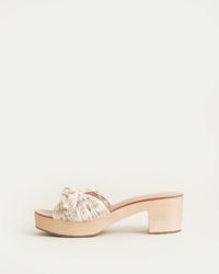 LOEFFLER RANDALL Regina Bow Clog Slide Floral | pretty mule style cloggs