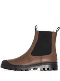 Loewe chunky leather Chelsea boots ~ ridged rubber sole ankle boot